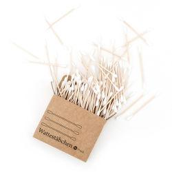 Katoenen van het Bamboe van 100% Biologisch afbreekbare Knoppen in de Biologisch afbreekbare Doos van Kraftpapier