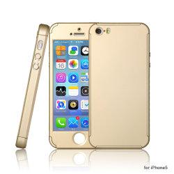 Prezzo basso China Mobile Phone Cover 360 copertura completa con Custodia proteggischermo in vetro temperato per iPhone 5s