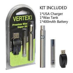 携帯用蒸発器のワックスのペン電池キット400mAhの最高点W3のワックスキット