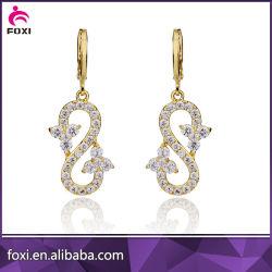 Оптовая торговля алмазами моды модный циркон висящих шпильки крепления серьги Ювелирные изделия