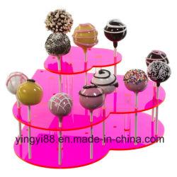 Meilleure vente de l'acrylique coeur gâteau Stand Pop