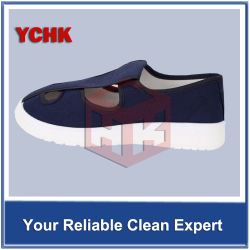 Esd-Segeltuch-Schuhe mit PU/SPU/Belüftung-Sohle