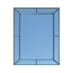목재 은빛 유리 벽 욕실 거울