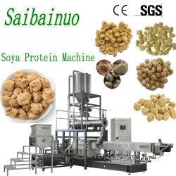 Capacidade de grandes pedaços de Soja Texturizada Snacks Máquinas de fabrico de alimentos