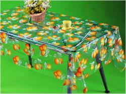 Tablecloth transparente plástico impresso PVC quadrado barato do espaço livre do Tablecloth da forma