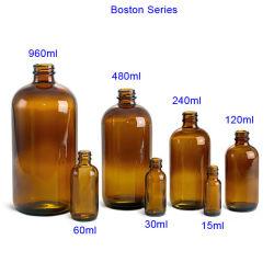 5-100 ml Orange Boston Huile Essentielle de bouteilles en verre avec compte-gouttes, de la pompe et le capuchon