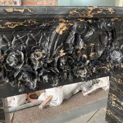 Negro afgano de Piedra Natural chimenea de mármol portoro