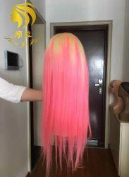 熱い販売の習慣によって着色される正面レースのかつらのブラジルの人間のバージンの毛の加工されていない10A等級の毛