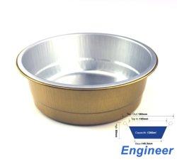 China mejor calidad de contenedor de papel de aluminio Aluminio Fiambrera de Godfoil