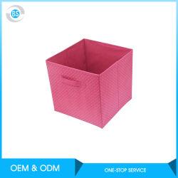 접히는 화포는 조직자 가정 공간 절약 접을 수 있는 저장 상자를 입는다