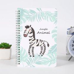 Resistente al agua personalizada Cuaderno espiral superior, 4 x 6 pulgadas con tapa verde y patrón Universal