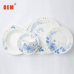 Hotel-weiße keramische Platten-gesetztes Porzellan-Essgeschirr