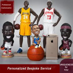 Personnalisation de superstars de la NBA sur mesure série de dessins animés figurines d'un produit de poupée en résine