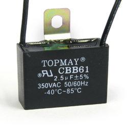 Topmay550VCA Metallzied condensateurs à film polypropylène Cbb61 pour climatisation