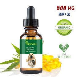 Olio di canapa organico per l'olio di Cbd dei gatti e dei cani per Anti-Ansia OEM/ODM di dolore di facilità degli animali