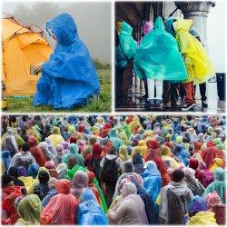Датчик дождя и освещенности в чрезвычайных ситуациях в пончо с кожухом для взрослых женщин и мужчин, тяжелый режим работы, Легкий, водонепроницаемый для путешествия и кемпинга