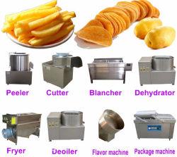 Légumes brosse de lavage BULLE AIR Peeling Fry Potato Chips Frites surgelées Strip de coupe/cette feuille/forme incurvée de bonne qualité Machine de la production de petits grand milieu