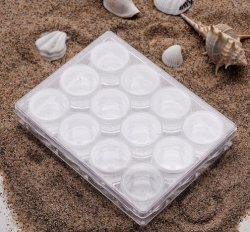 Nagel-Kunst-Schmucksache-Zubehör-Behälter des Plastiksteinfall-12PCS gesetzte