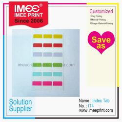 Imeeプリントは印刷された指標タブIt4をカスタム設計する