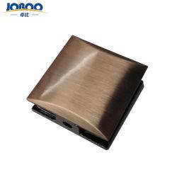 Bester verkaufenmetallkupferner einzelner Loch-Fußboden zu den Tür-Glasschelle Frameless Dusche-Raum-Temperament-passenden Glaszubehör für Badezimmer-Glas-Tür
