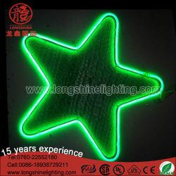 12V 30cm LED 별 모양 크리스마스 실내와 옥외 사용을%s 네온 주제 훈장 펀던트 빛