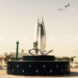 Acabado de duplicación de la curva de la escultura de acero inoxidable
