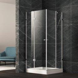 La stanza quadrata di allegato dell'acquazzone con acciaio inossidabile munisce i morsetti di cardini di vetro