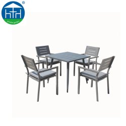 商業完全なアルミニウムテーブルおよび椅子の普及した安い屋外の庭の家具