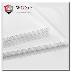 Pared múltiple Láminas de Policarbonato Lámina de plástico transparente B&Q la rejilla de plástico flexible la hoja de lámina de plástico blanco de alto grado de láminas de policarbonato
