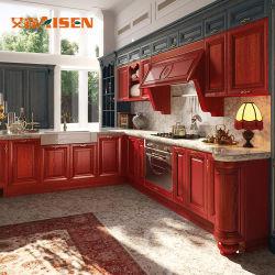 Modernos muebles de madera maciza importados Gabinete de cocina china cocina Proyecto