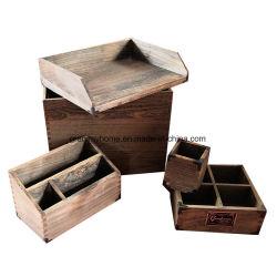 Paulownia ensemble des fournitures de bureau en bois. (5-pack)