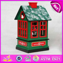 2015 Cheval Boîte à musique en bois de conception pour les enfants, la meilleure qualité 2salle d'oiseaux en bois de couleur de la conception de cadeau de Noël La Boîte à musique W07B023A