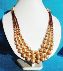 6# 8#10#12#の白いガラス真珠多層ワイヤーライン方法ネックレスの宝石類