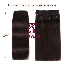完全なヘッド(AV-CHL07-14-2)のための毛の拡張7PCSの二重Weftクリップ
