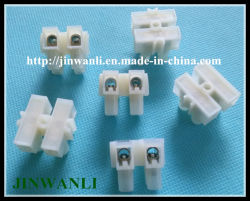 Plastik 2 Row 24 Position Terminal Block Power Cable Connector Bar 15A
