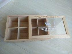 Caselle di legno di colore di prezzi bassi della radura di presentazione naturale della finestra con i divisori