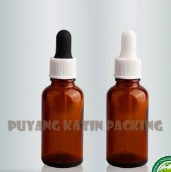 De amber Tubulaire Fles van het Glas voor Kosmetisch Pak