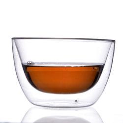 Abad8d7 com isolamento térmico de parede dupla de borossilicato tigela de vidro