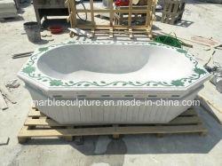 Neuer Entwurfs-weiße Marmorbad-Wannen für Verkauf (SY-BT007)