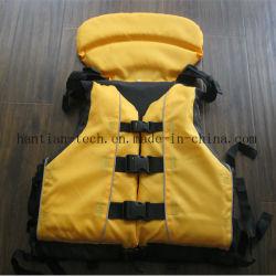 Negra y amarilla de tipo I Vela Chaleco salvavidas para deportes de agua