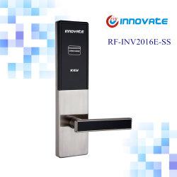 Serrure numérique avec lecteur de carte RF du système de cartes de l'hôtel Poignée de porte intérieure se verrouille