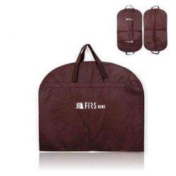 Brown Non-Woven Gament plegable de tela de traje de transportista Bolsas para embalaje (FLS-8861)
