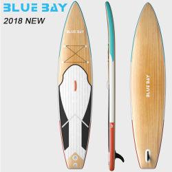 Grãos de madeira de Camada Dupla Pre-Laminated infláveis Dwf Stand up Paddle Board
