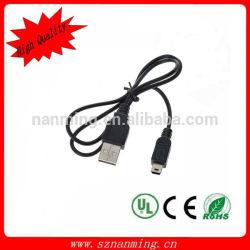 Universal USB a Mini USB de datos / cable de carga para el teléfono celular / MP3 / MP4