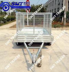 Jaula de acero galvanizado de volcado de Tractor remolque remolque (SWT-TT85)