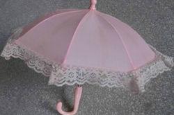 En línea recta los encajes de la lluvia paraguas infantil