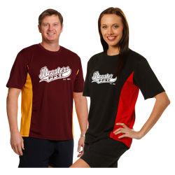 Impreso 100% seco colocar malla Unisex Tagless Tee camisetas