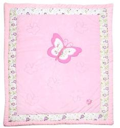 Het Dekbed van het Lapwerk van het satijn in Roze Super Mooi van Herten voor Meisjes voor de Wieg van de Voederbak