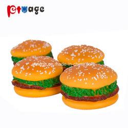 Los productos de PVC hamburguesa perro masticar goma inofensiva mascota Juguetes