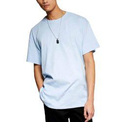 流行の Graffiti T シャツの注文の衣類の印刷のライトブルーの袋 プレーンメンズ T シャツ